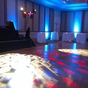 Dance Floor Lighting MC Dean Holiday Party - December 2013